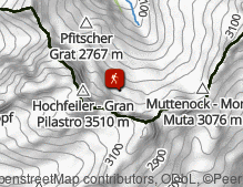 Map: Neveser Höhenweg / Alta Via di Neves