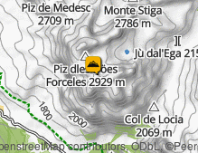 Map: Piz Conturines