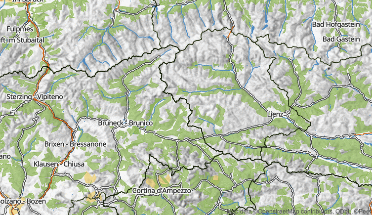 Map: Val Pusteria